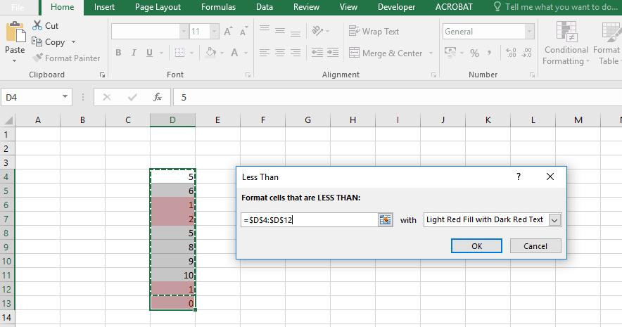 การใช้งาน excel Conditional Formatting