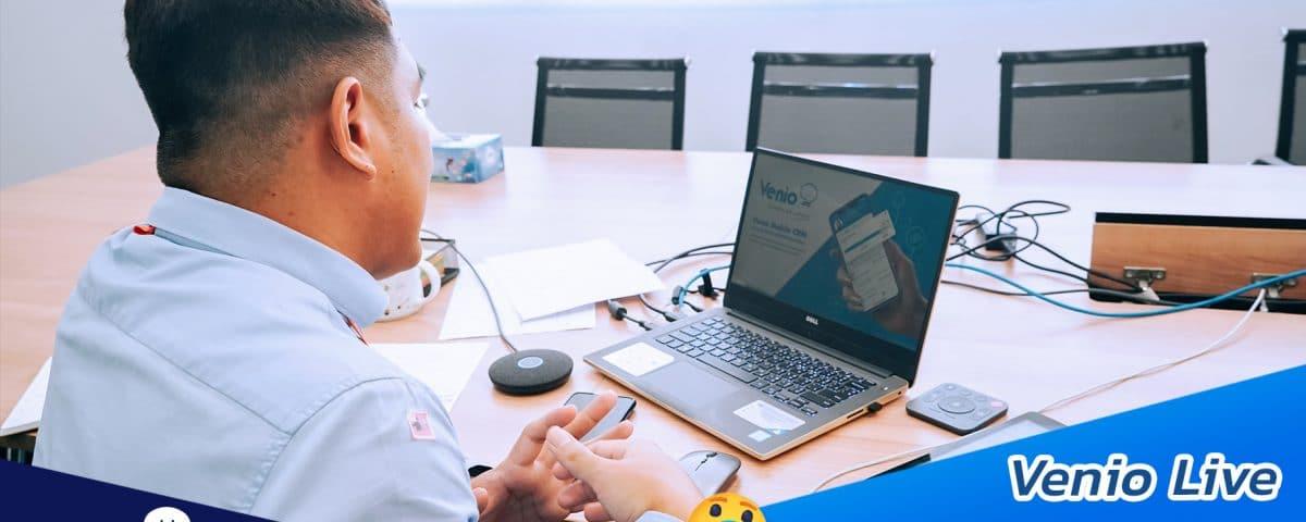 Venio live training workshop via online channel