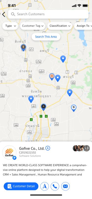 customer map of Venio