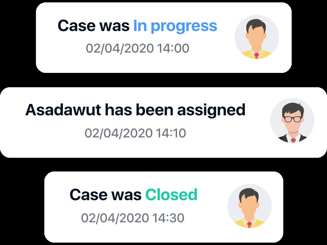 status of case