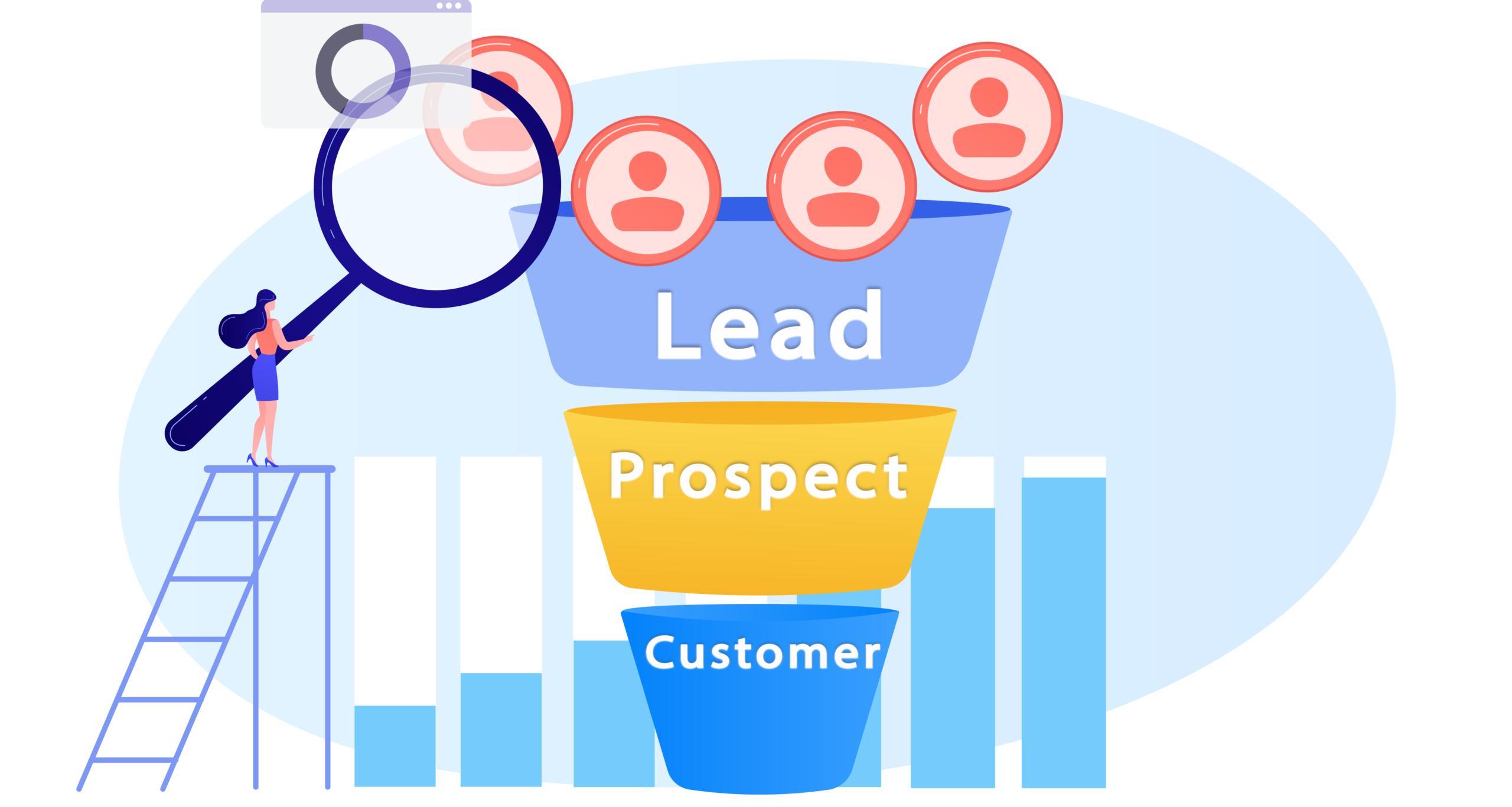 crm sales funnel lead prospect customer